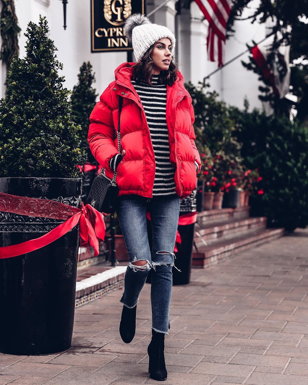 Женские дутые куртки для осени-зимы фото_13