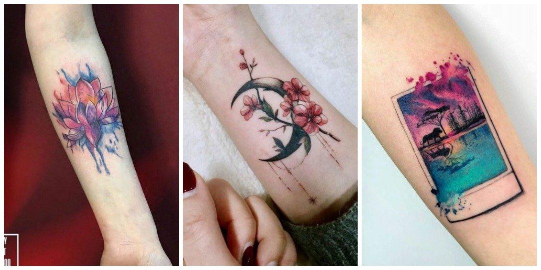 Акварельная татуировка на руке_2