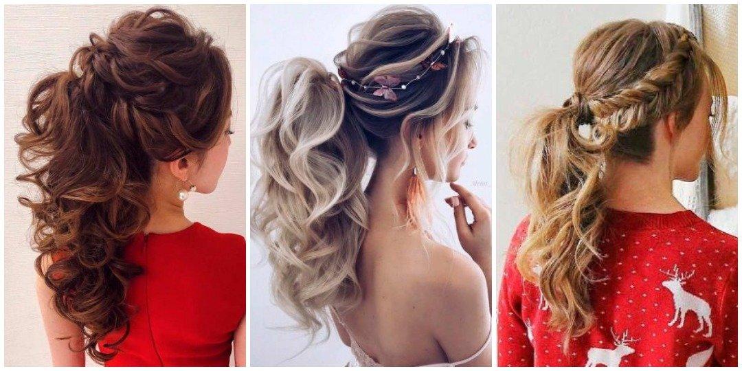 рождественских причесок для длинных волос _12