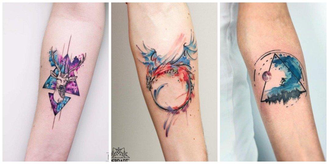 Акварельная татуировка на руке