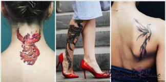 Женские татуировки с фениксом