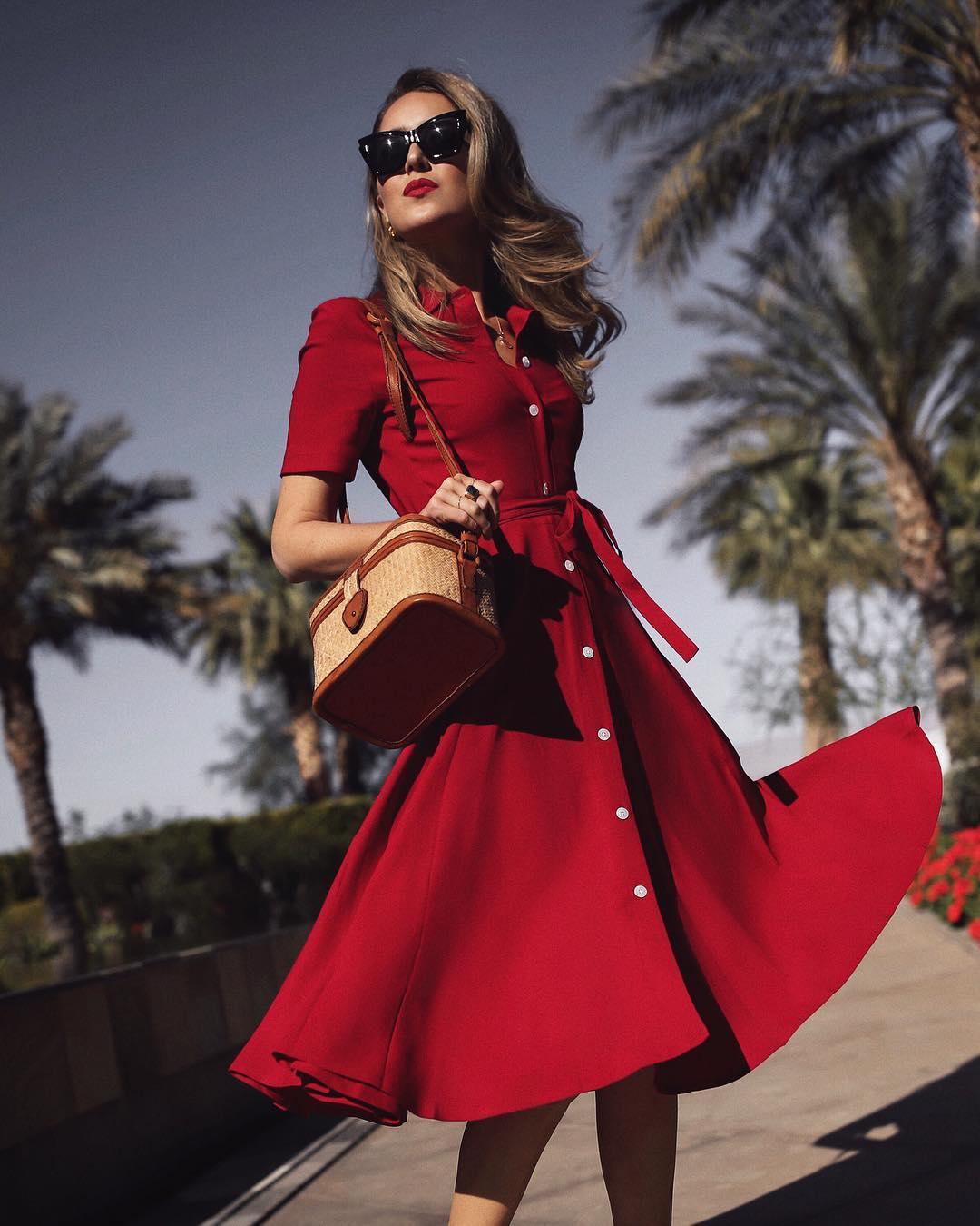 Модные весенние платья-рубашки 2019_27