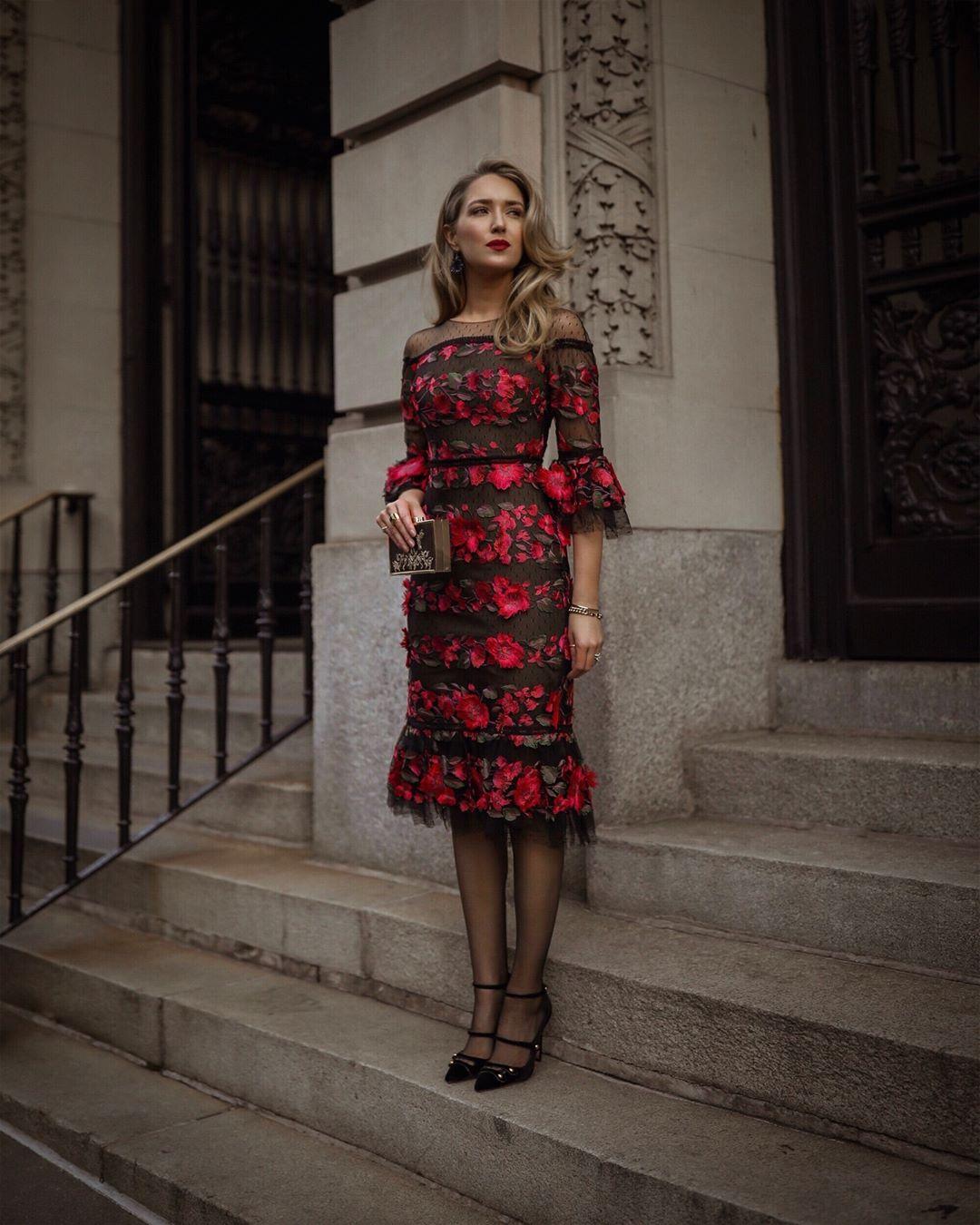 Модные весенние платья 2019 с  принтами_39