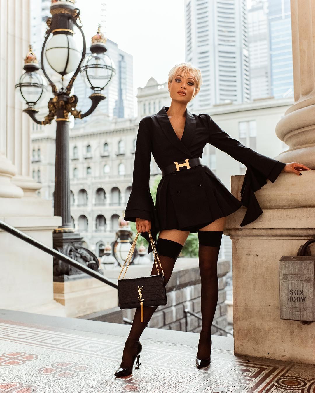 Модное весеннее платье-блейзер_33