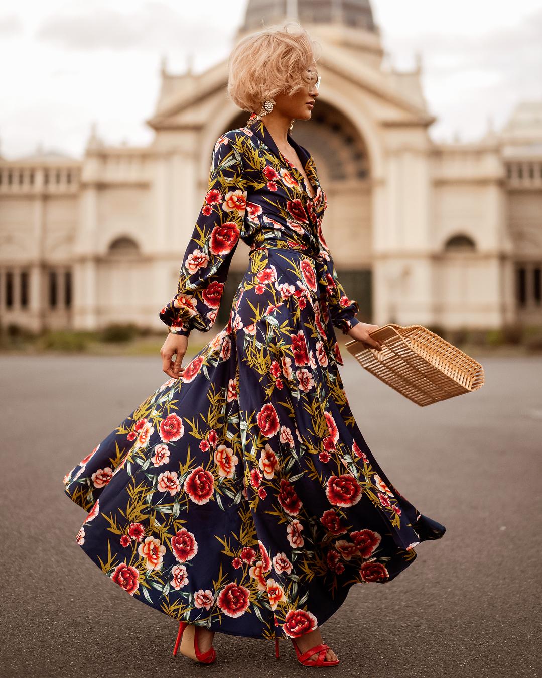 Модные весенние платья 2019 с  принтами_40
