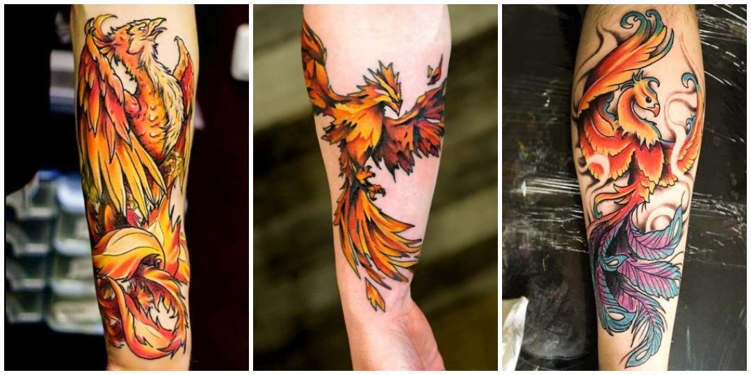 Великолепные женские татуировки феникс_2