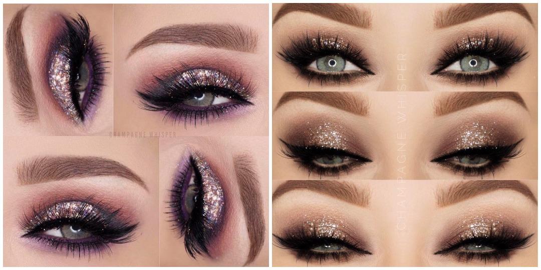 Вечерний макияж для голубых глаз фото_20