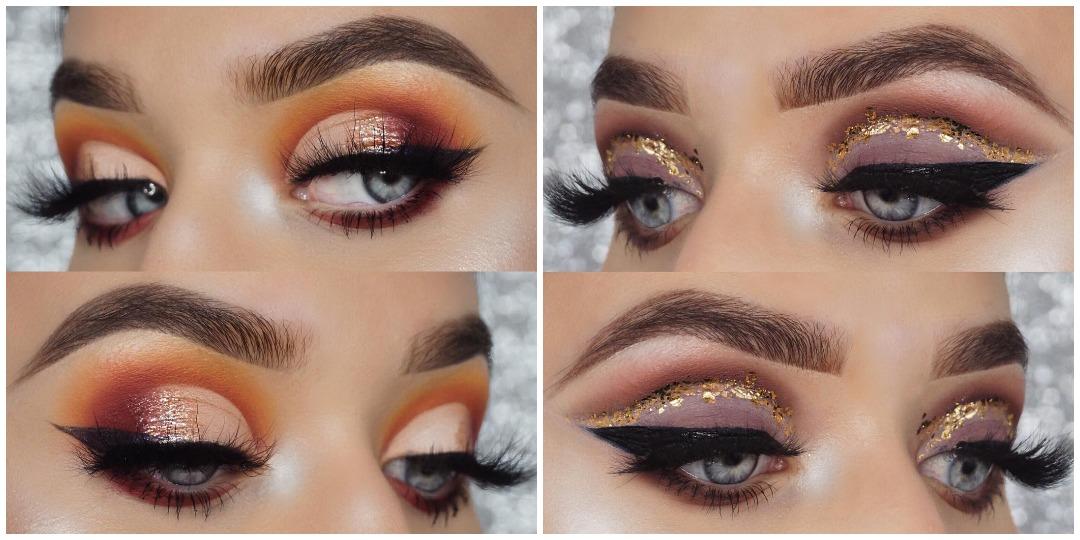 Вечерний макияж для голубых глаз фото_16