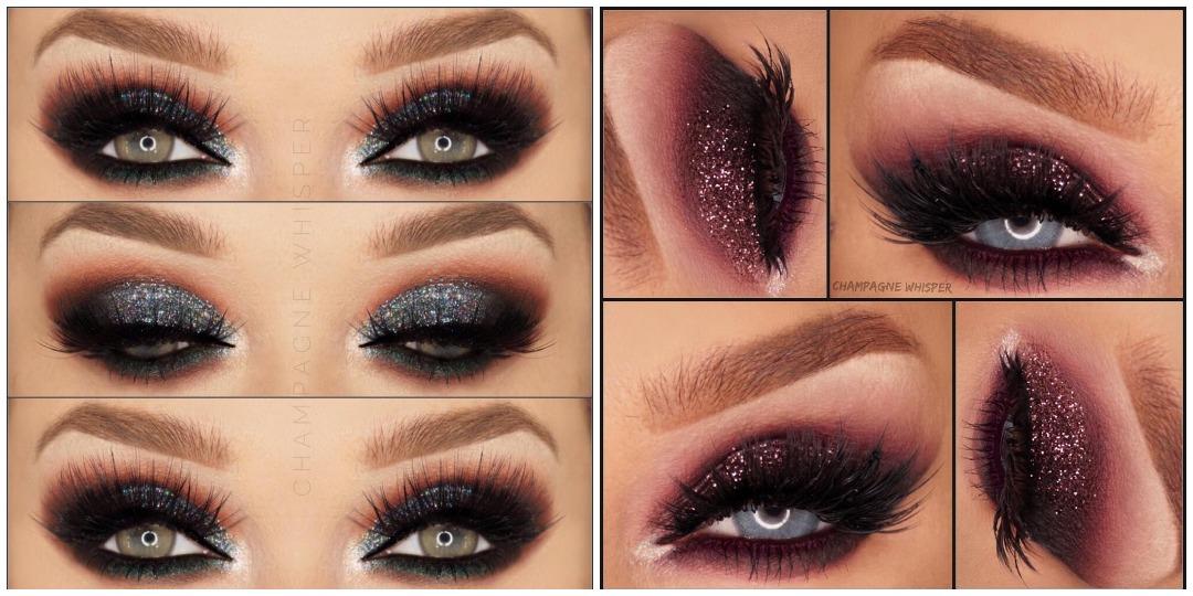 Вечерний макияж для голубых глаз фото_19