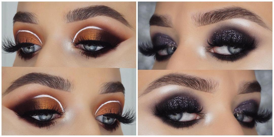 Вечерний макияж для голубых глаз фото_14