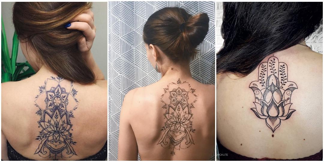 Татуировки для девушек на спине мандала