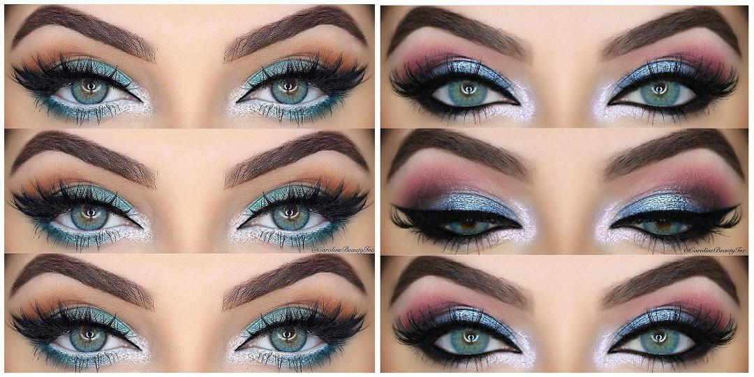 Вечерний макияж для голубых глаз фото_17