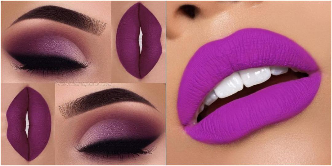 Популярные фиолетовые оттенки помады_2