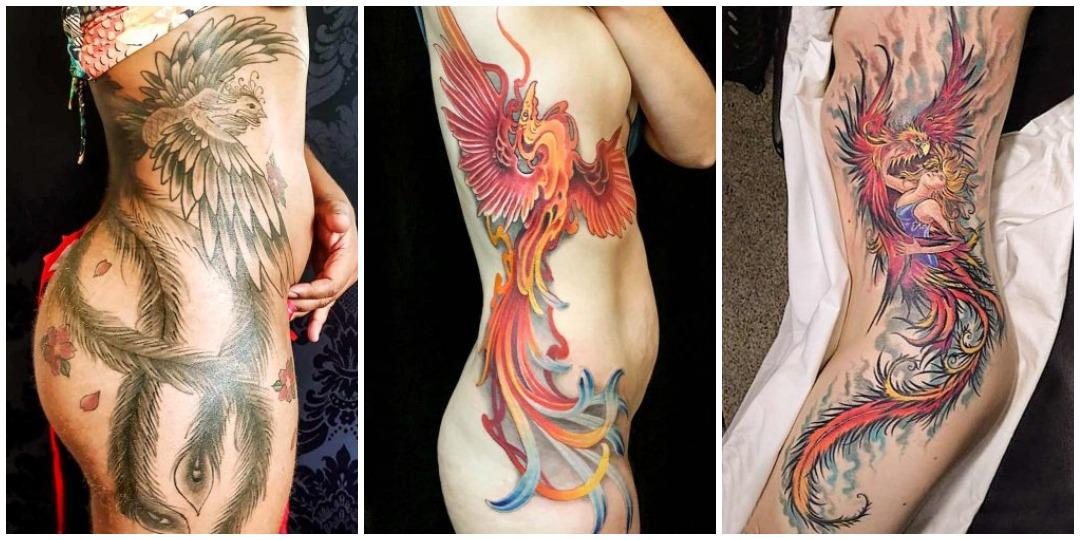 татуировки феникса на боку_2