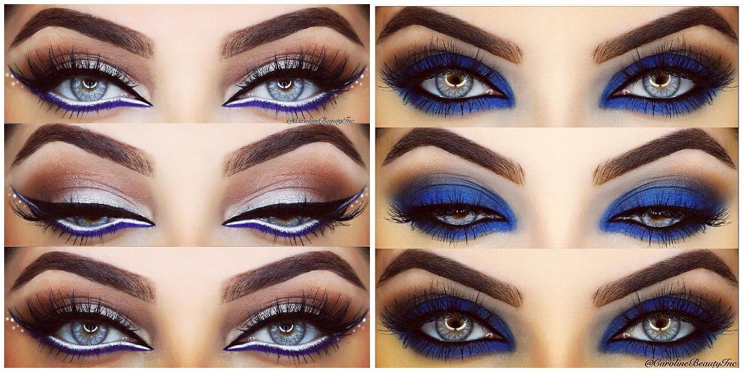 Вечерний макияж для голубых глаз фото_18