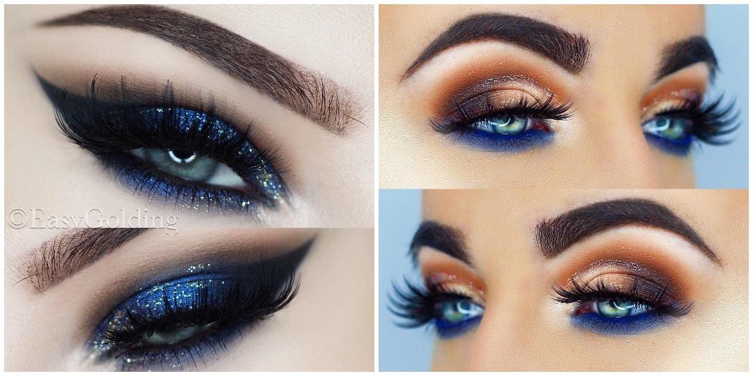 Вечерний макияж для голубых глаз фото_5