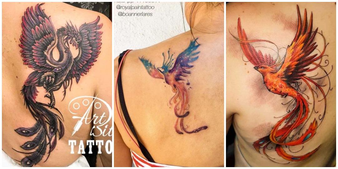 татуировки с фениксом на плече_2