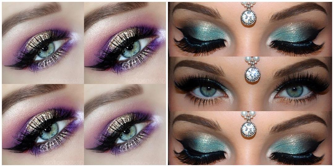 Вечерний макияж для голубых глаз фото_12