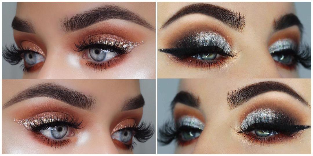 Вечерний макияж для голубых глаз фото_4