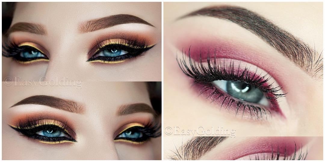 Вечерний макияж для голубых глаз фото_2