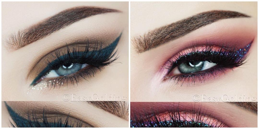 Вечерний макияж для голубых глаз фото_1