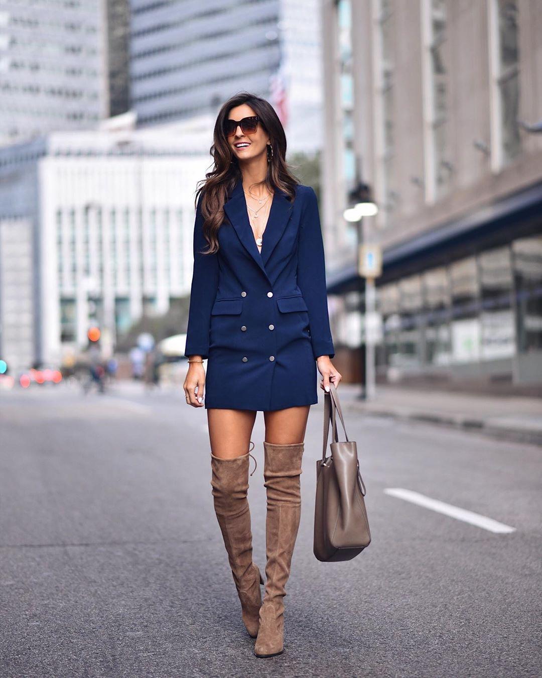 Модное весеннее платье-блейзер_36