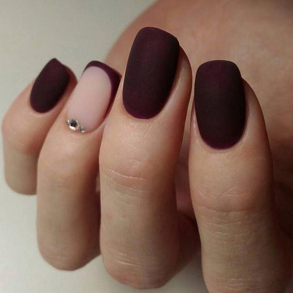 Цветной французский маникюр на короткие ногти