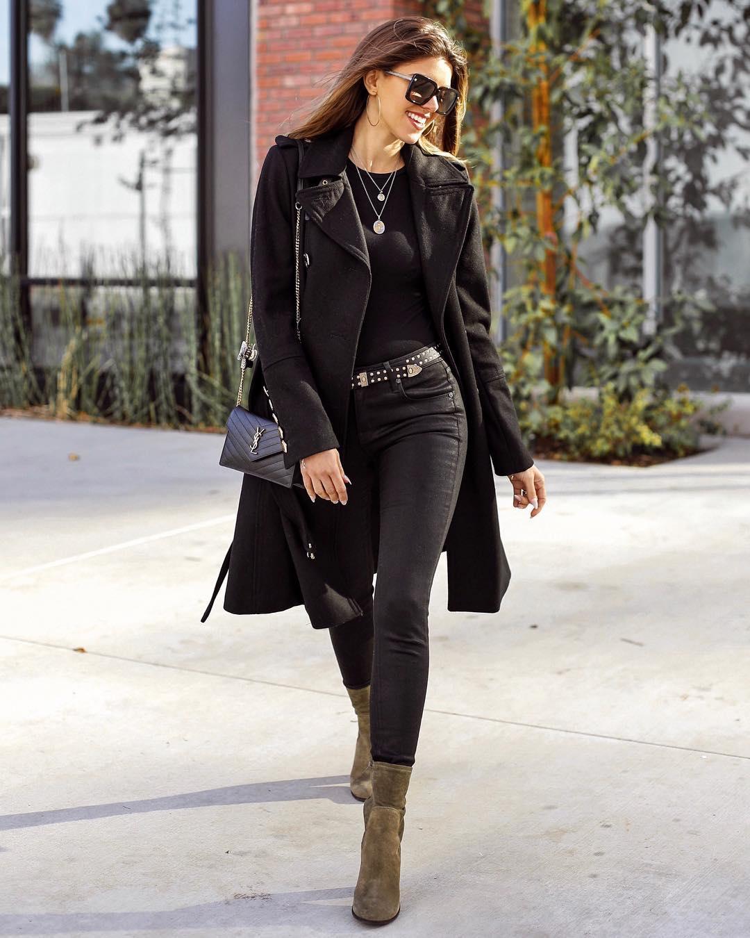 Луки с черными джинсами_3