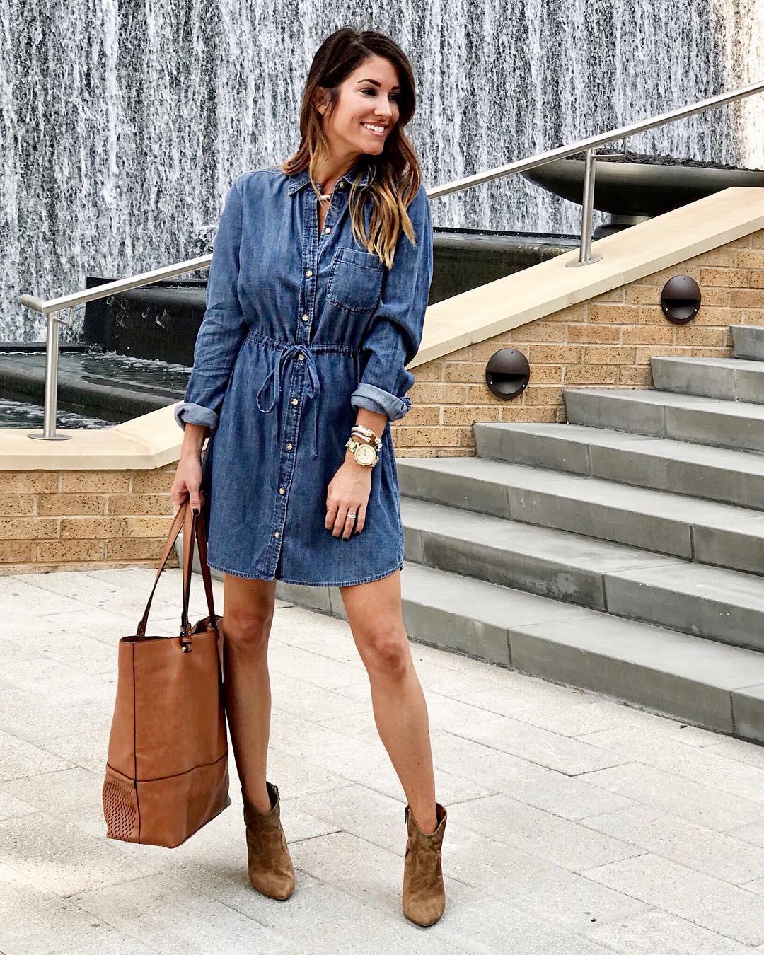Модные весенние платья-рубашки 2019_30