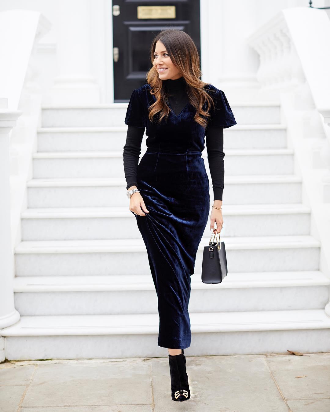 Модные весенние платья 2019 из вельвета, бархата или кожи_21