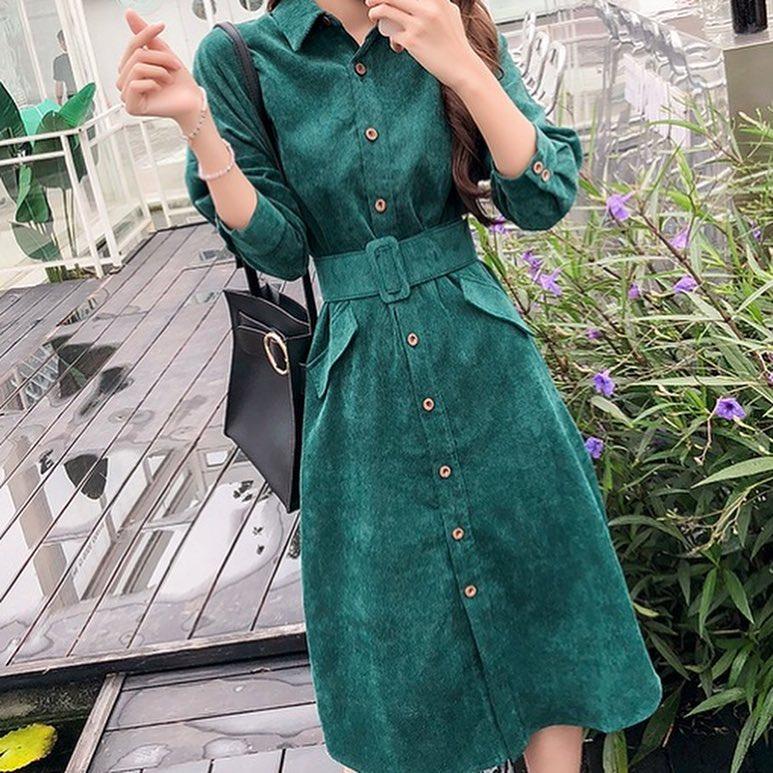 Модные весенние платья 2019 из вельвета, бархата или кожи_22