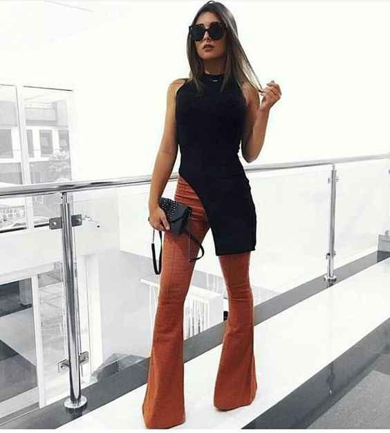 С чем носить коричневые брюки фото_14