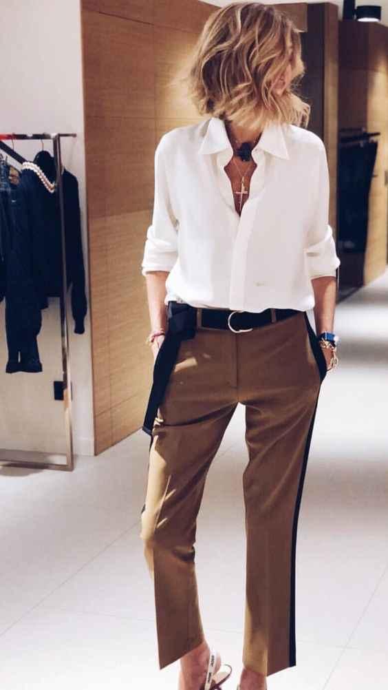 С чем носить коричневые брюки фото_4