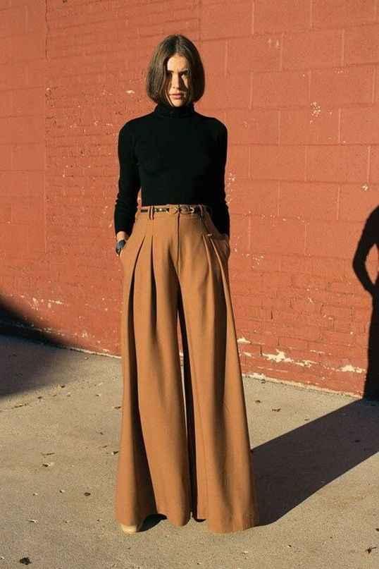 С чем носить коричневые брюки фото_15