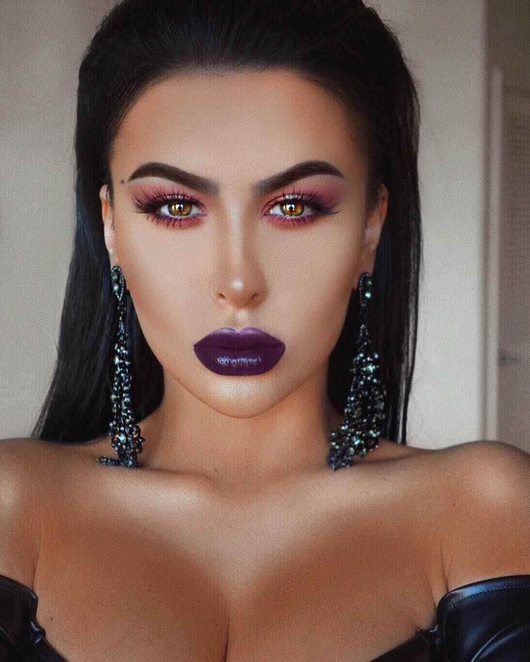 Вечерний макияж для темных волос и зеленых глаз_15
