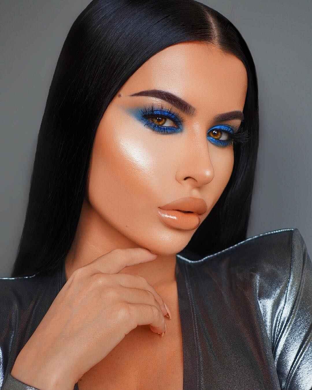 Вечерний макияж для темных волос и зеленых глаз_14