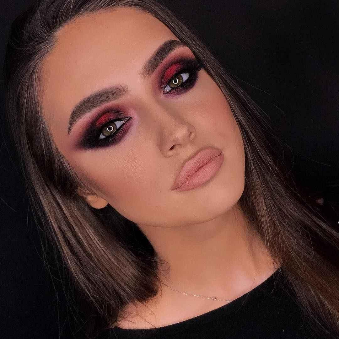 Вечерний макияж для темных волос и зеленых глаз_4