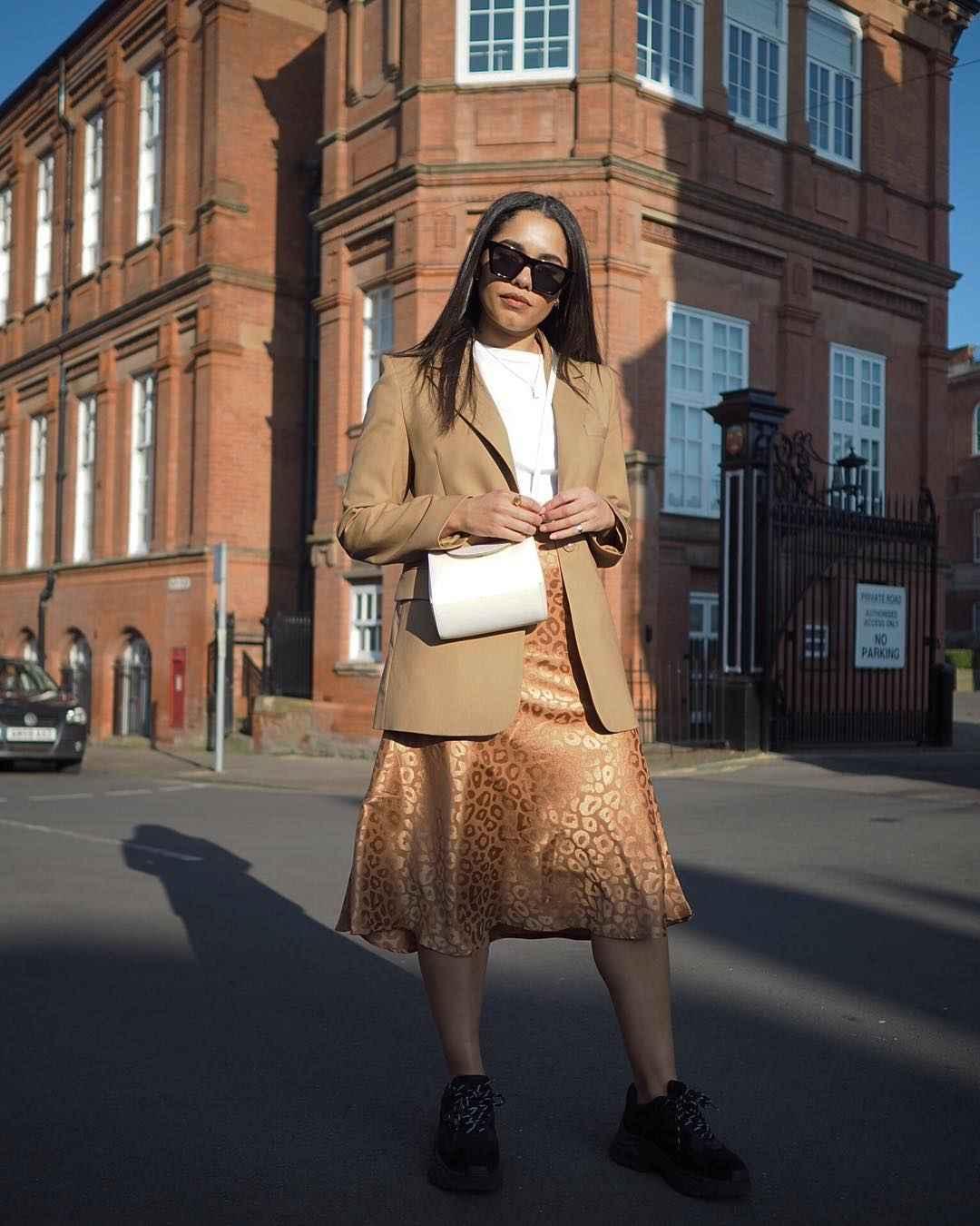 С чем носить длинную леопардовую юбку фото_5