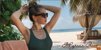 Вера Брежнева прошлась по пляжу Мальдив, обнажив грудь