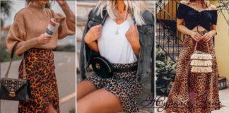 С чем носить леопардовую юбку 2019-2020