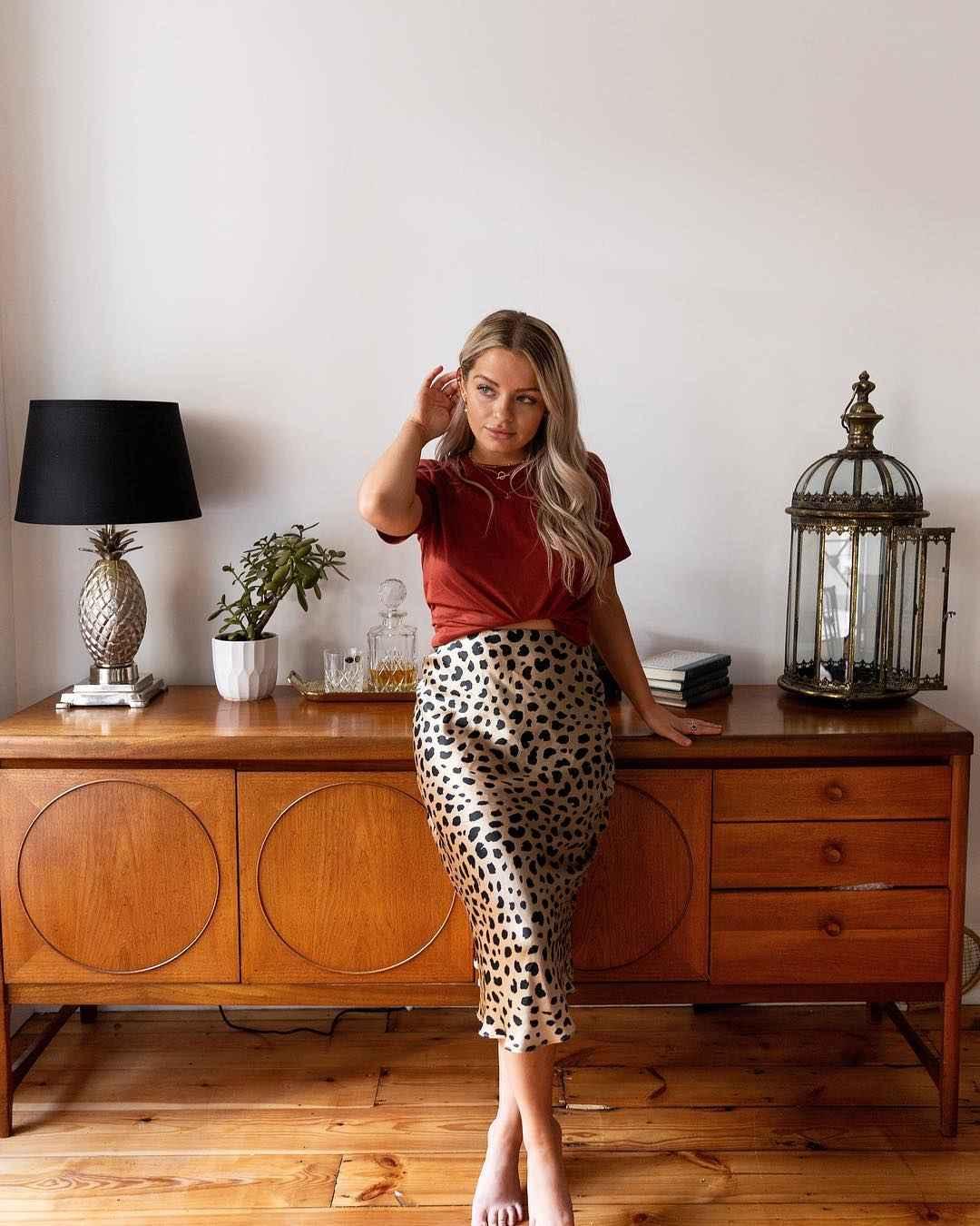 С чем носить леопардовую юбку карандаш фото_7