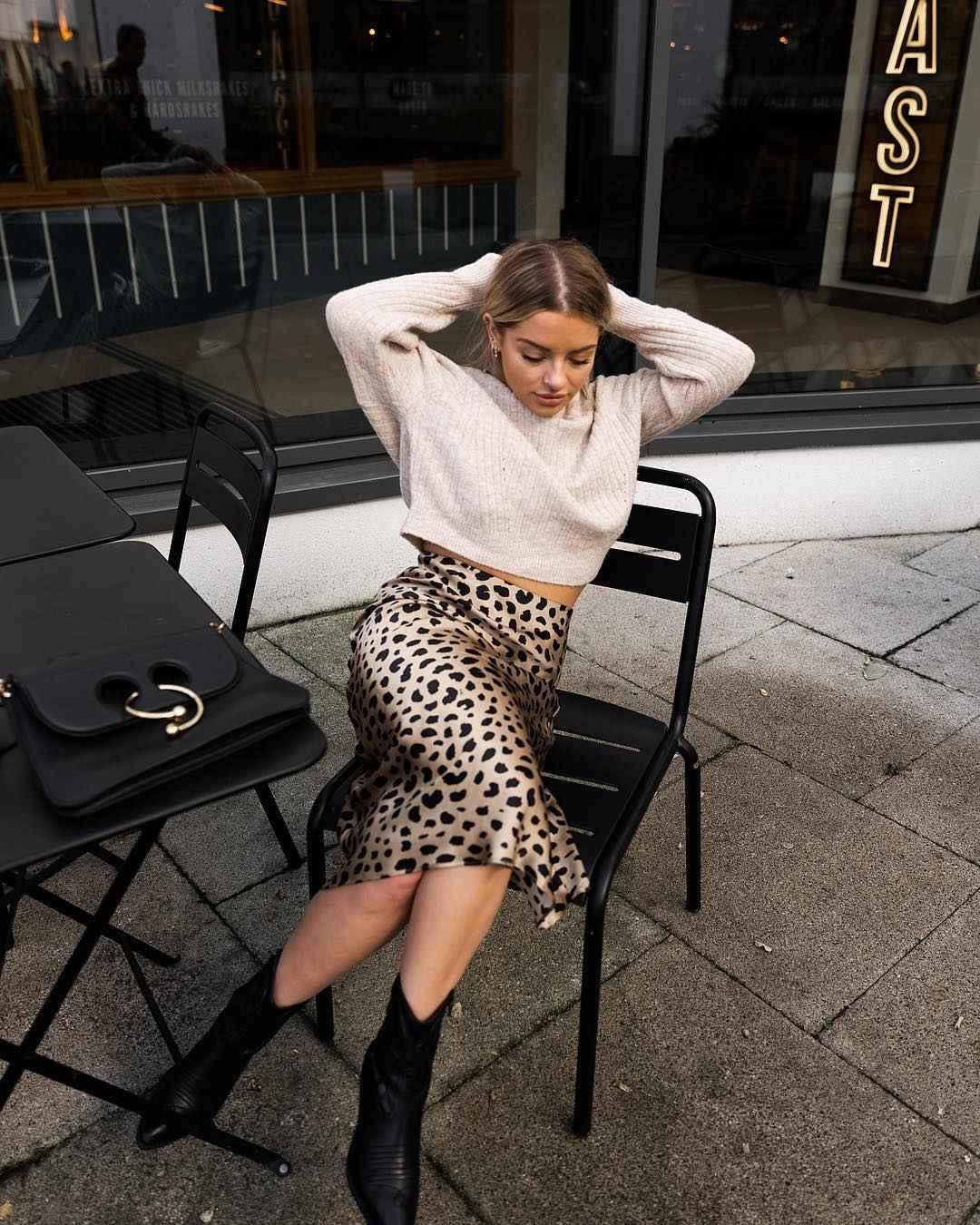 С чем носить леопардовую юбку карандаш фото_4