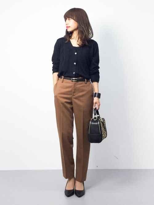 С чем носить коричневые брюки фото_18
