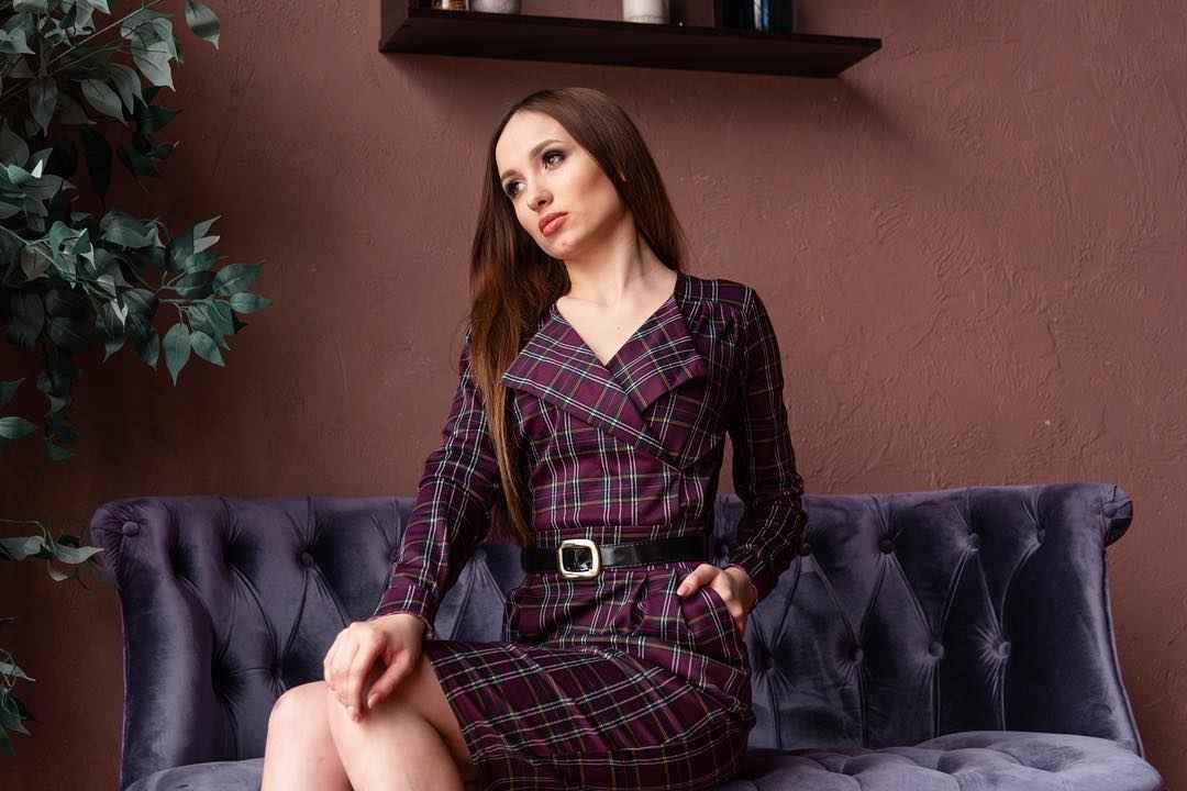 Платье в клетку фото_10