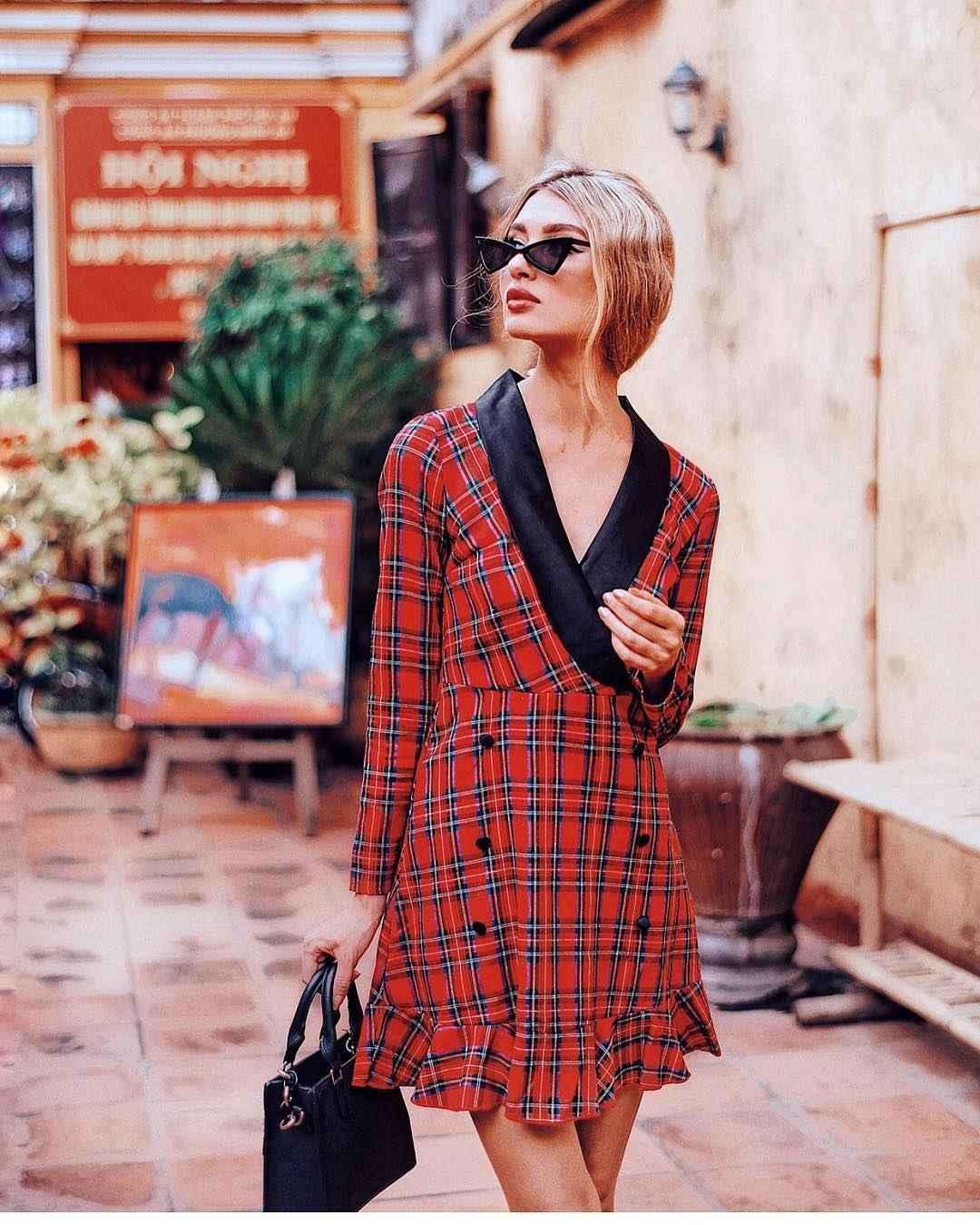 Платье в клетку фото_8