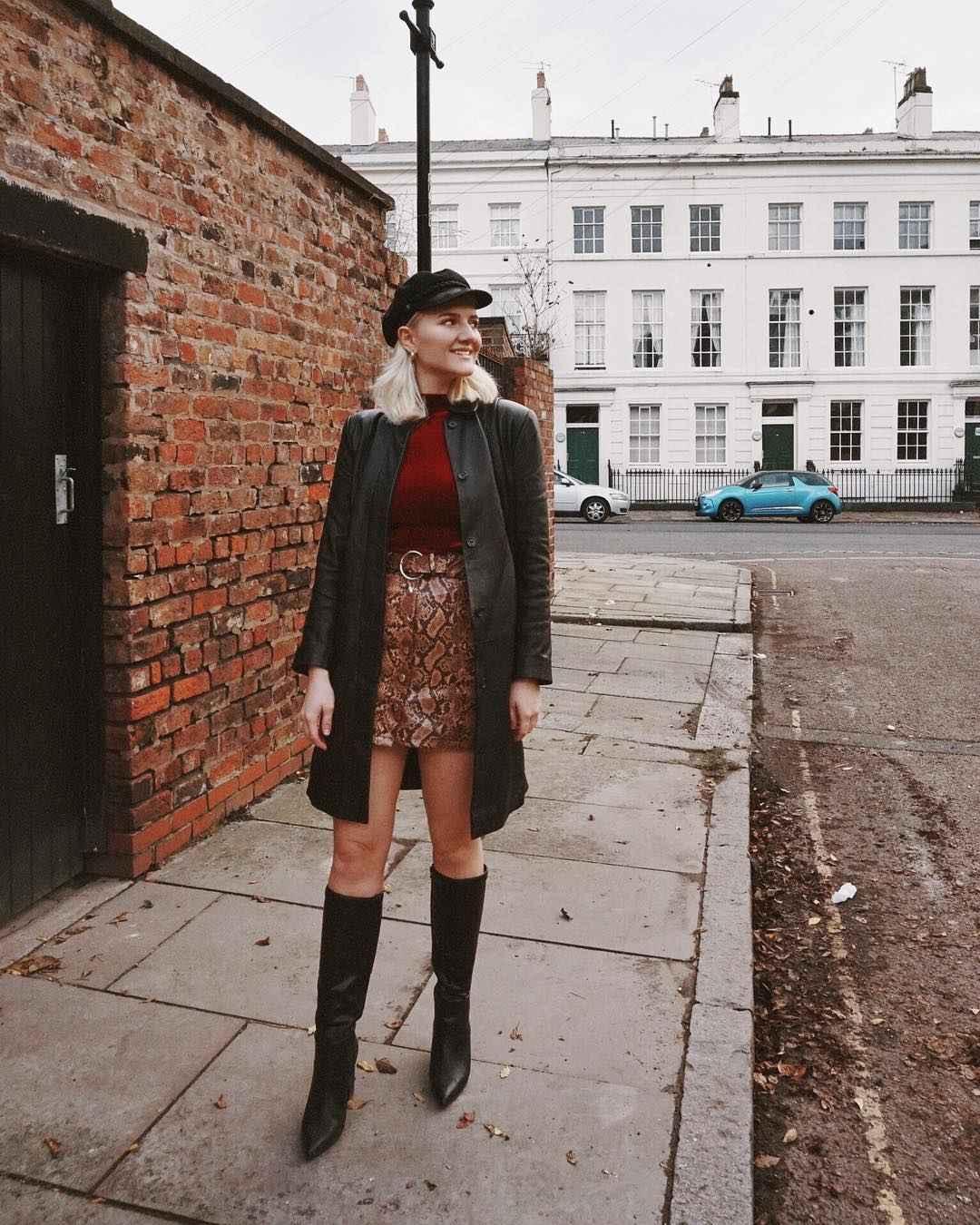С чем носить леопардовую юбку мини фото_3