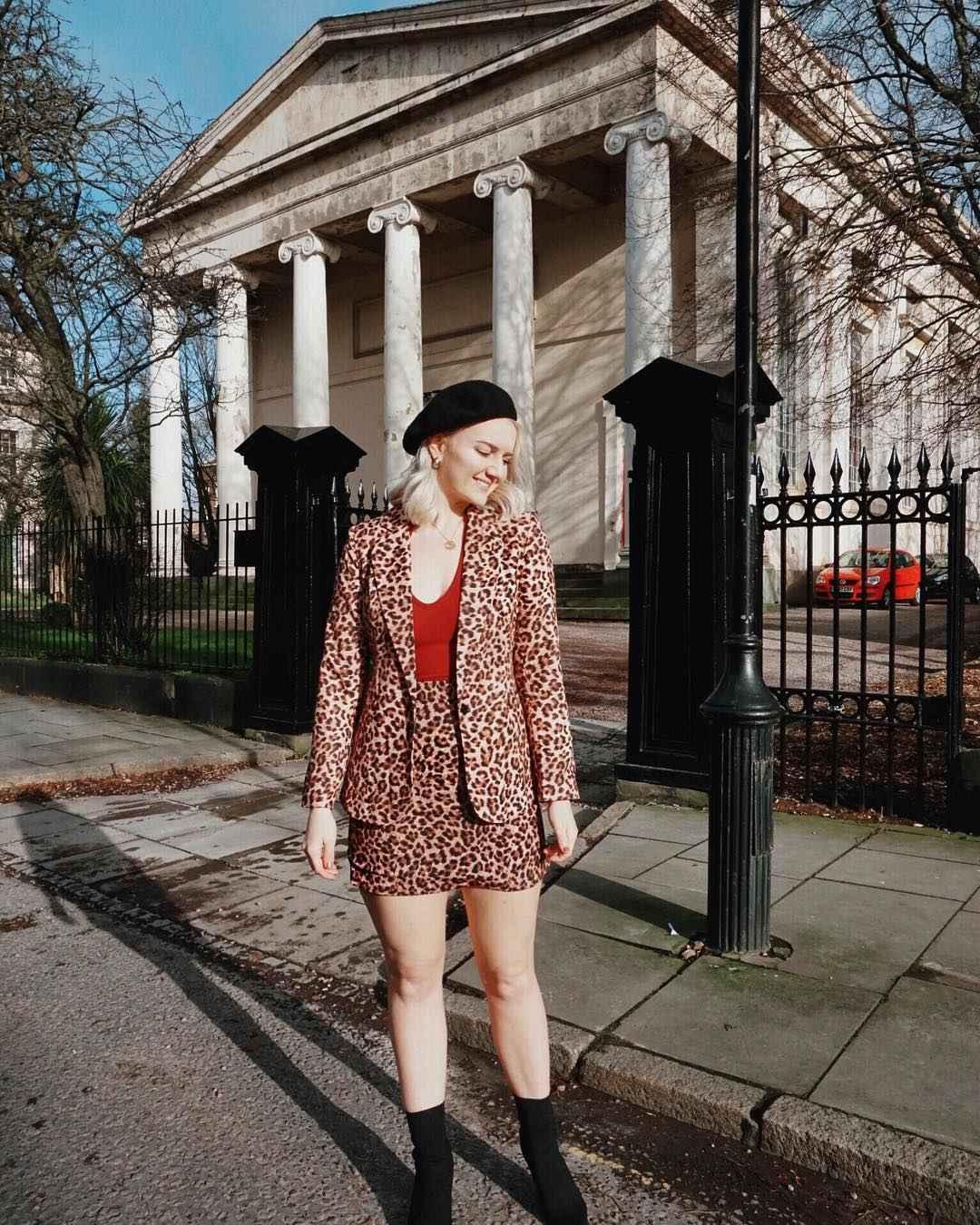 С чем носить леопардовую юбку мини фото_7