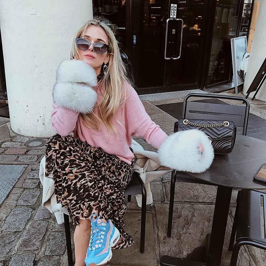 С чем носить длинную леопардовую юбку фото_6