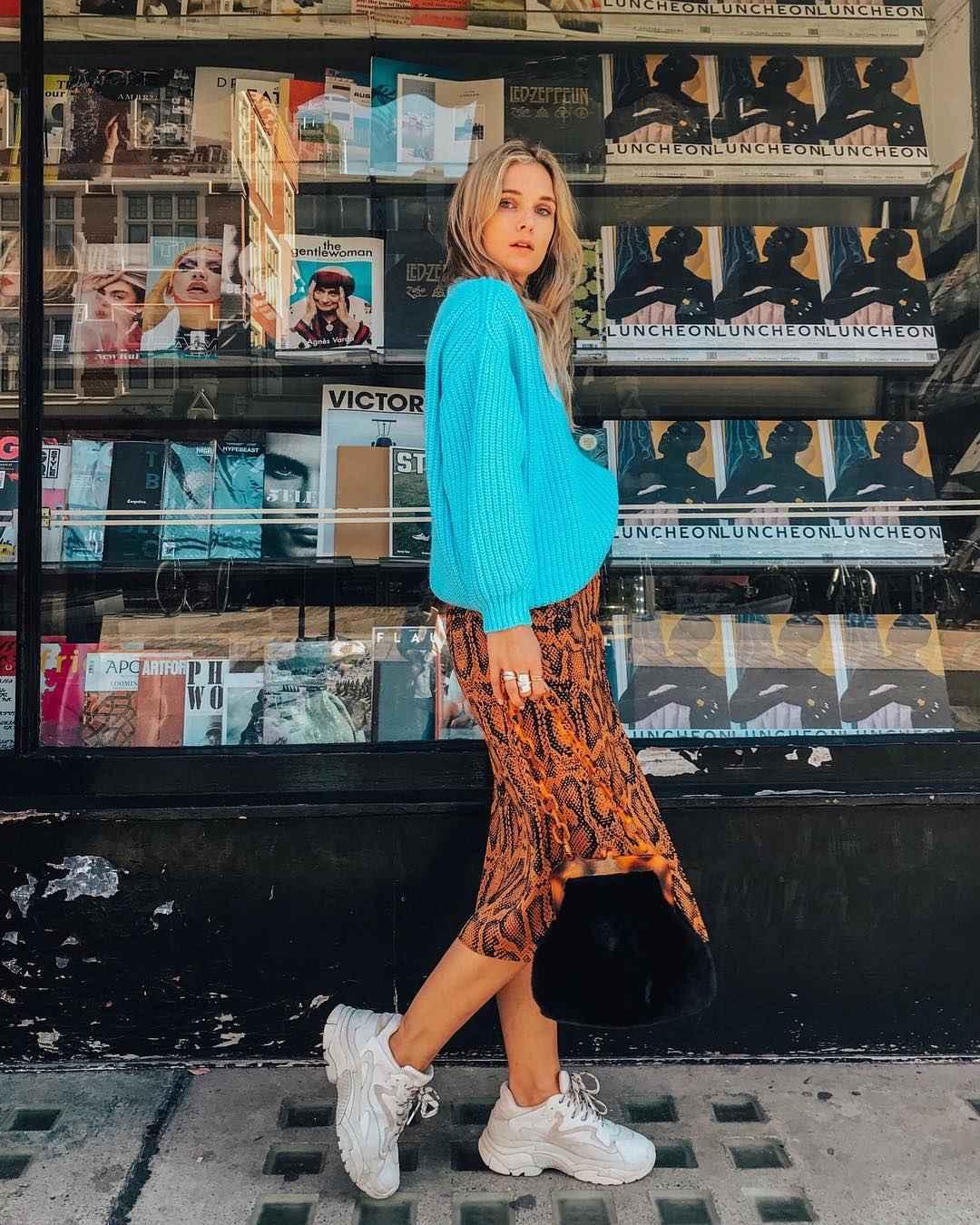 С чем носить леопардовую юбку карандаш фото_9
