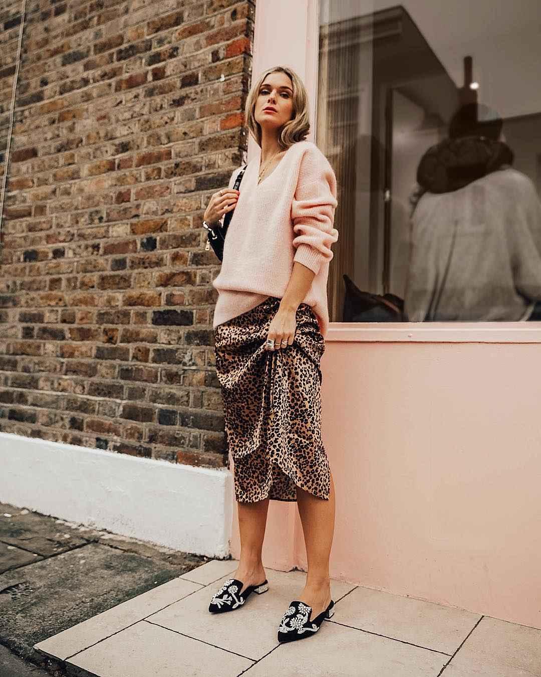 С чем носить длинную леопардовую юбку фото_2
